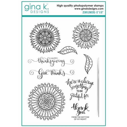 Gina K Designs ZENFLOWERS Clear Stamps 7016 Preview Image