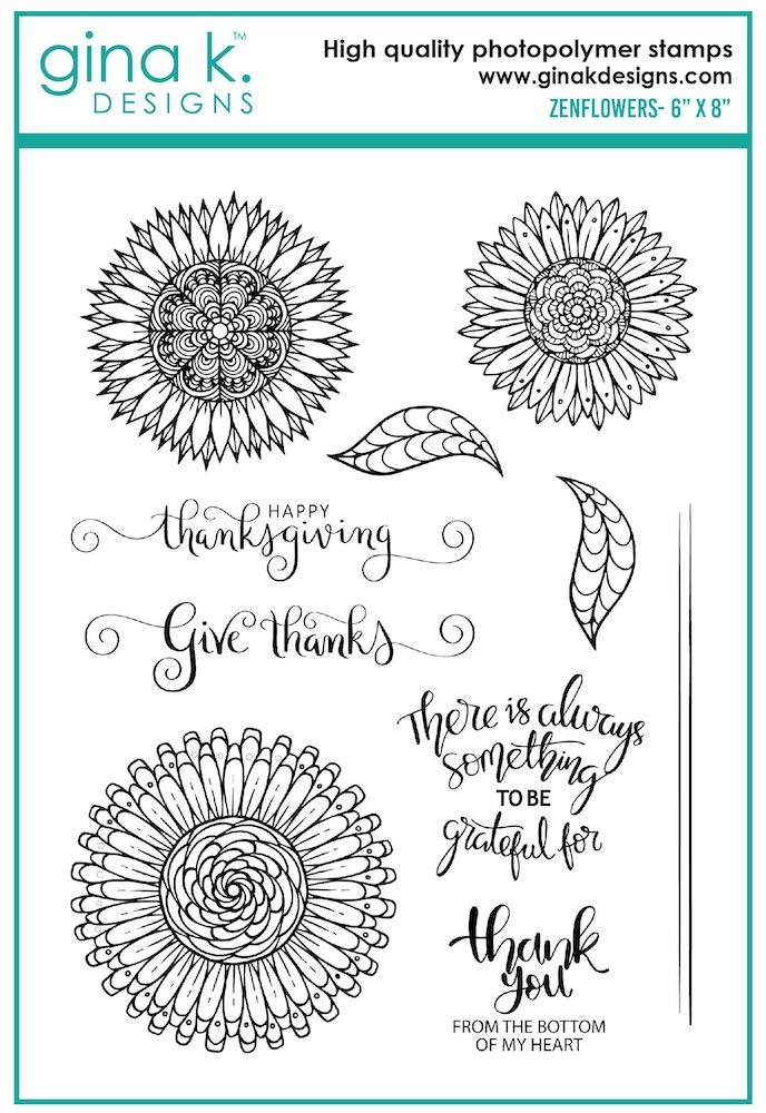 Gina K Designs ZENFLOWERS Clear Stamps 7016 zoom image