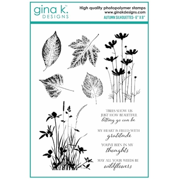 RESERVE Gina K Designs AUTUMN SILHOUETTES Clear Stamps 6989