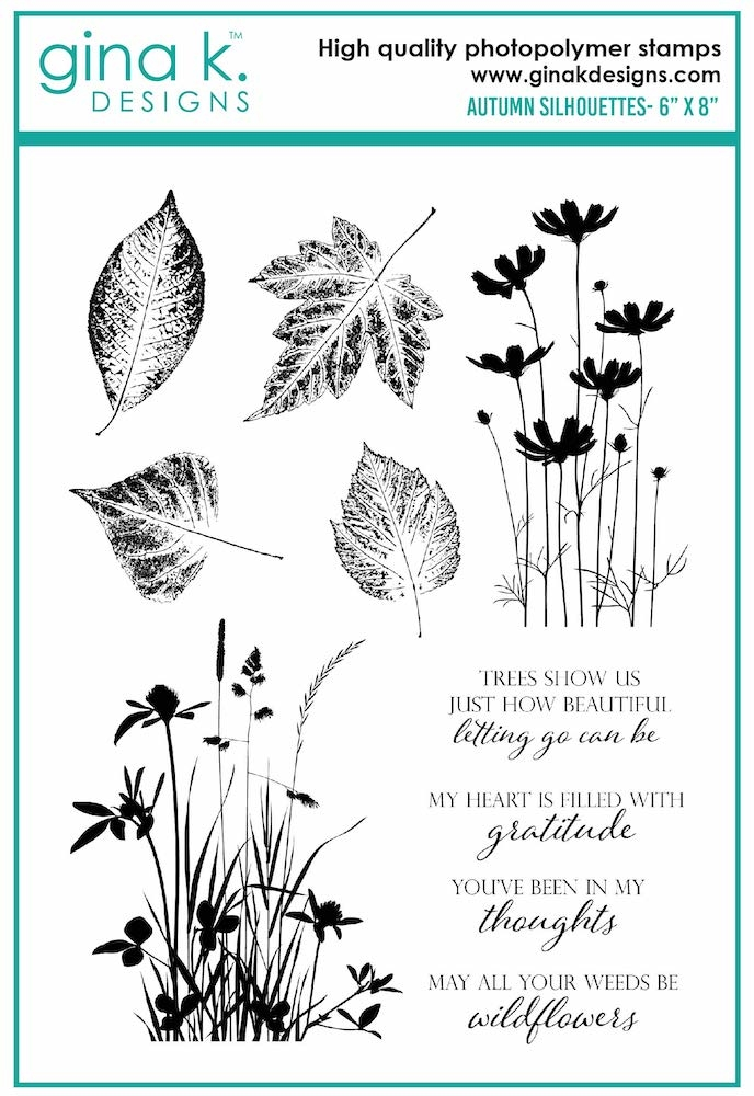 Gina K Designs AUTUMN SILHOUETTES Clear Stamps 6989 zoom image