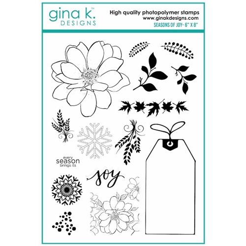 Gina K Designs SEASONS OF JOY Clear Stamps 7115 Preview Image