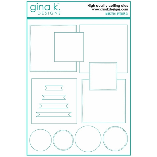Gina K Designs MASTER LAYOUTS 3 Die Set 7238 Preview Image