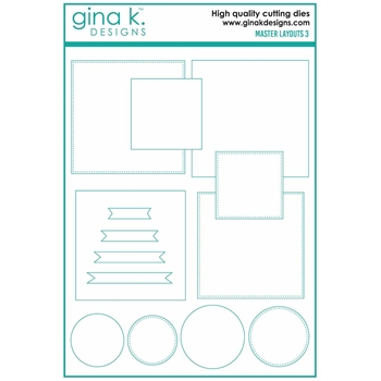RESERVE Gina K Designs MASTER LAYOUTS 3 Die Set 7238