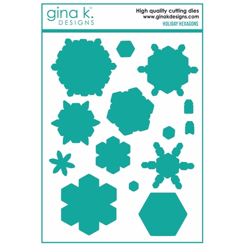 Gina K Designs HOLIDAY HEXAGONS Coordinating Dies 7207 Preview Image