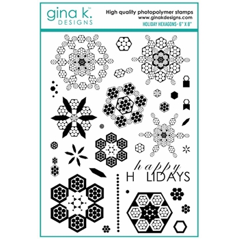 Gina K Designs HOLIDAY HEXAGONS Clear Stamps 7092