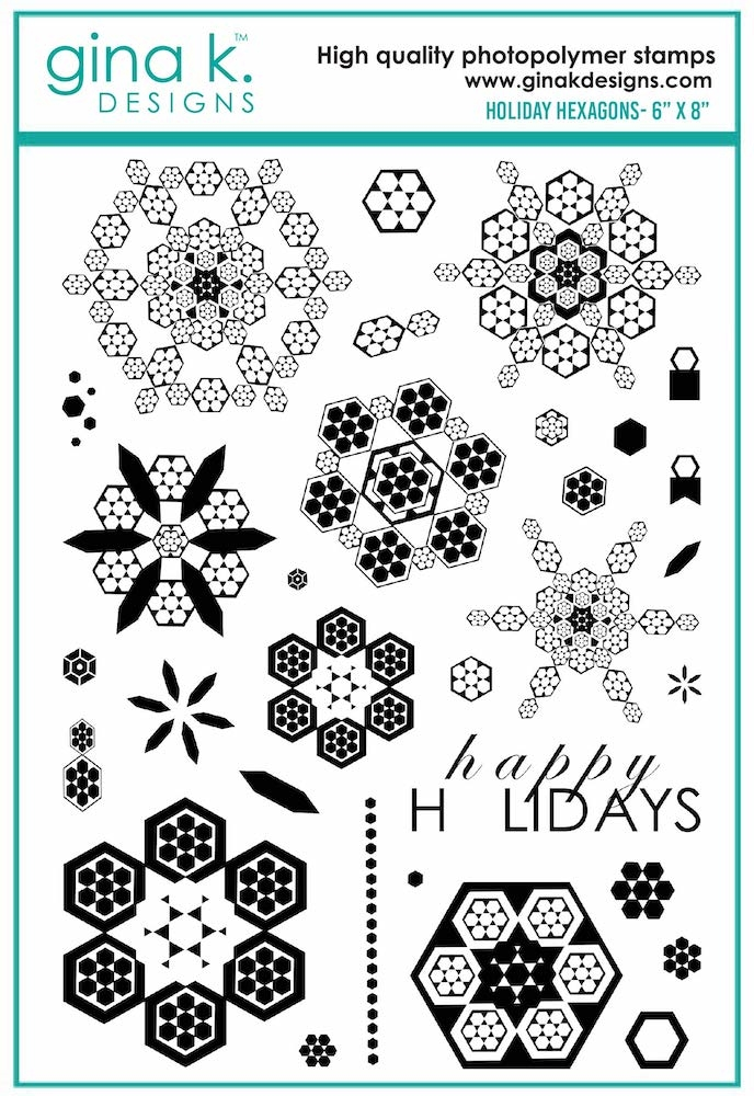 Gina K Designs HOLIDAY HEXAGONS Clear Stamps 7092 zoom image
