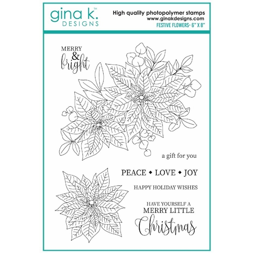 Gina K Designs FESTIVE FLOWERS Clear Stamps 7078 Preview Image