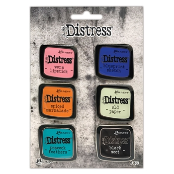 Tim Holtz Distress Enamel Pin SET 4 Ranger tdzs73468