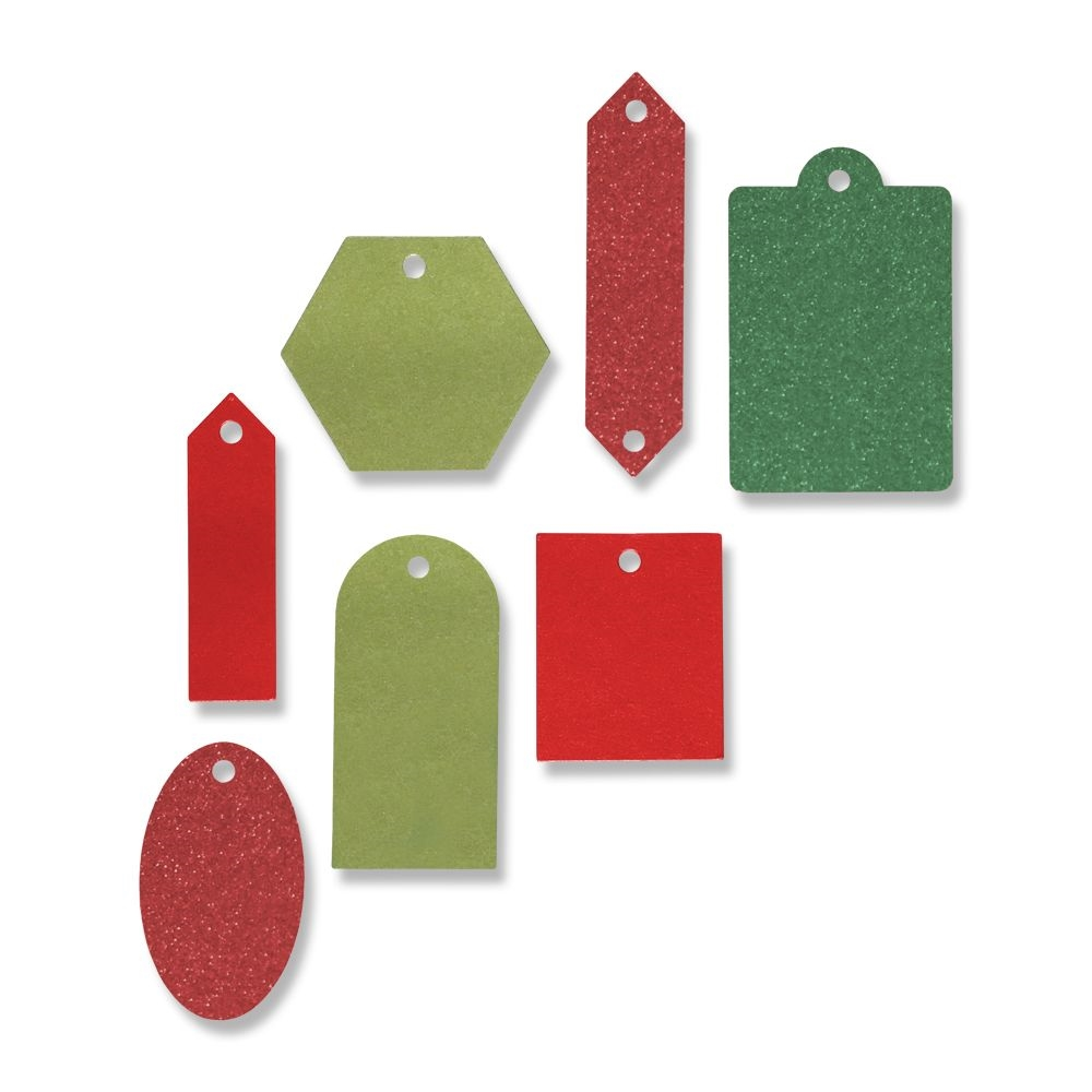 Sizzix GIFT TAG COLLECTION Thinlits Dies 665025 zoom image