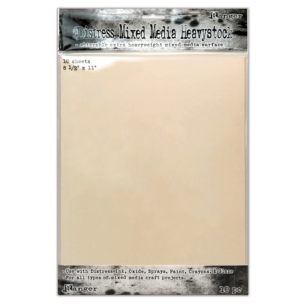 Tim Holtz 8.5 X 11 DISTRESS MIXED MEDIA HEAVYSTOCK Ranger tda75172