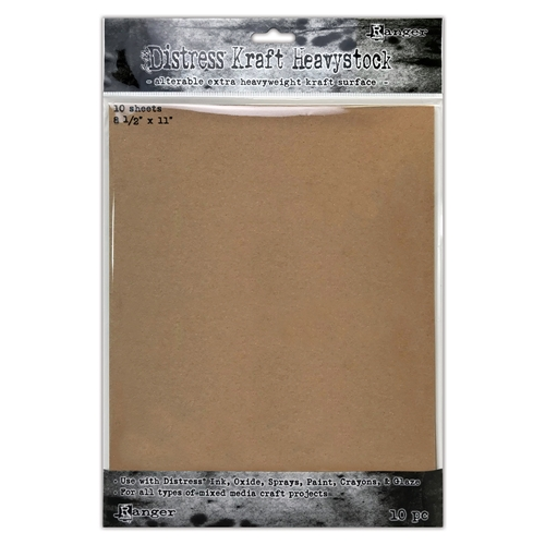 Tim Holtz 8.5 X 11 DISTRESS KRAFT HEAVYSTOCK Ranger tda76384 Preview Image