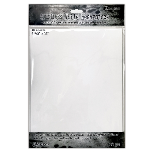 Tim Holtz 8.5 X 11 DISTRESS WHITE HEAVYSTOCK Ranger tda76322 ** Preview Image