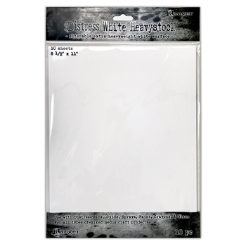 Tim Holtz 8.5 X 11 DISTRESS WHITE HEAVYSTOCK Ranger tda76322