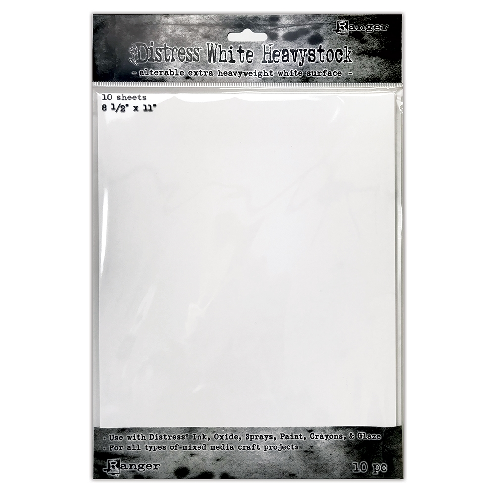 Tim Holtz 8.5 X 11 DISTRESS WHITE HEAVYSTOCK Ranger tda76322 ** zoom image