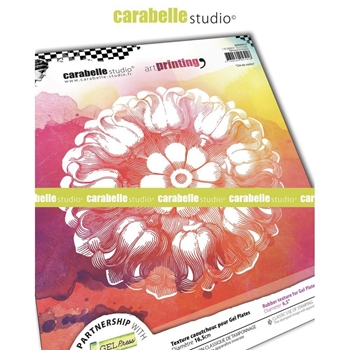 Carabelle Studio KEYSTONE Art Printing Texture Plate Round apro60032