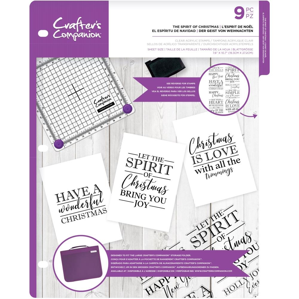 Crafter's Companion THE SPIRIT OF CHRISTMAS Clear Stamps cccasttsoc zoom image