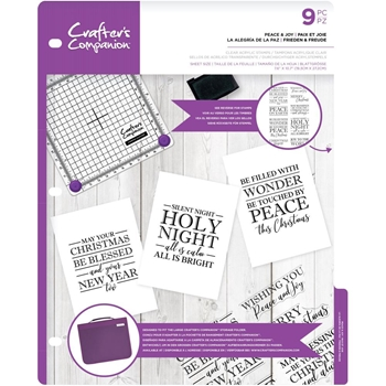 Crafter's Companion PEACE AND JOY Clear Stamps cccastpeac*