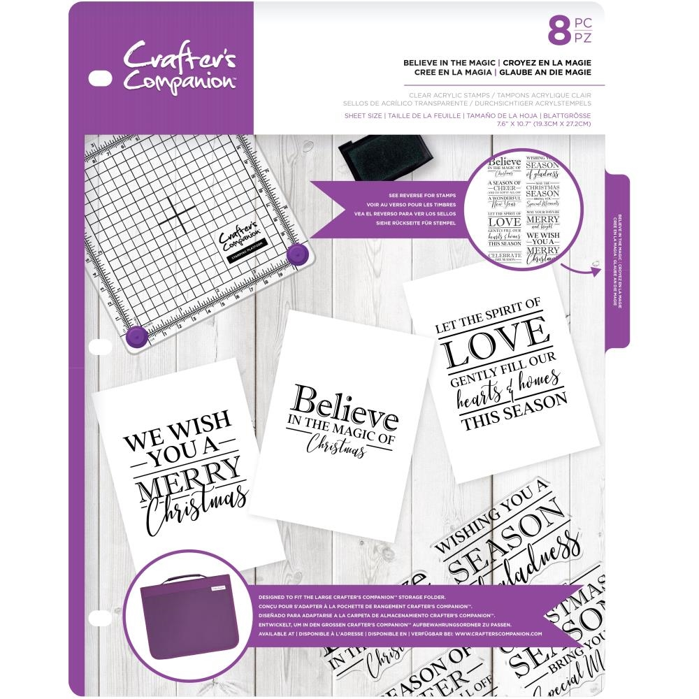 Crafter's Companion BELIEVE IN THE MAGIC Clear Stamps cccastbitm zoom image