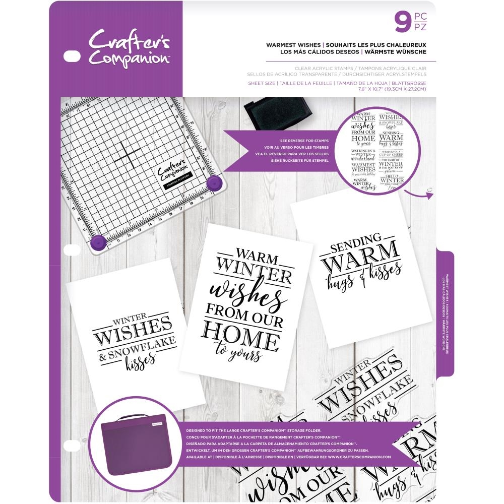 Crafter's Companion WARMEST WISHES Clear Stamps cccastwarm zoom image