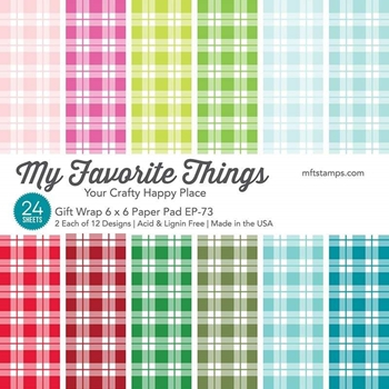 My Favorite Things GIFT WRAP 6x6 Inch Paper Pad 7058
