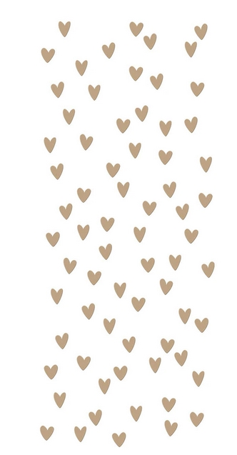 GLP 242 Spellbinders SCATTERED HEARTS BACKGROUND Glimmer Hot Foil Plate zoom image