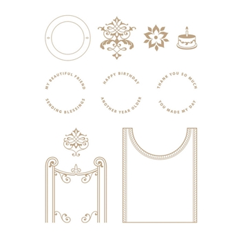 GLP 239 Spellbinders FILIGREE CRESCENT BAND Glimmer Hot Foil Plate