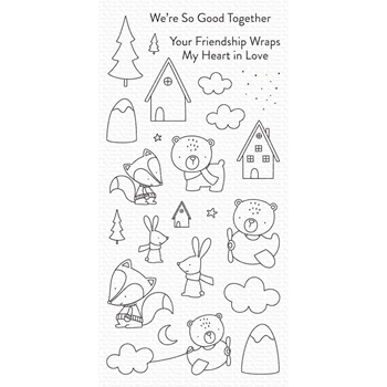My Favorite Things FOX AND FRIENDS Clear Stamps cs515*