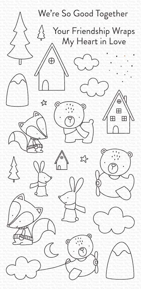 My Favorite Things FOX AND FRIENDS Clear Stamps cs515 zoom image