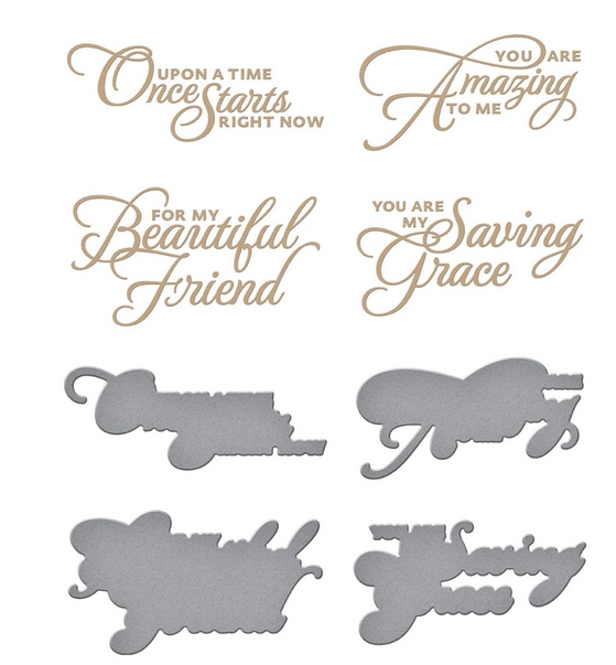 GLP 218 Spellbinders HEART MELT SENTIMENTS Glimmer Hot Foil Plate and Die Cuts zoom image