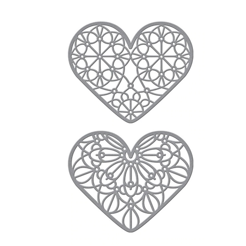 S4 1087 Spellbinders FOREVER LOVE HEARTS Etched Dies Preview Image
