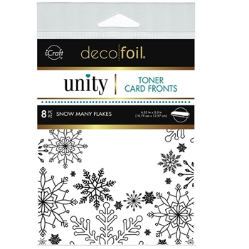 Therm O Web Unity SNOW MANY FLAKES DecoFoil Toner Card Fronts 19064