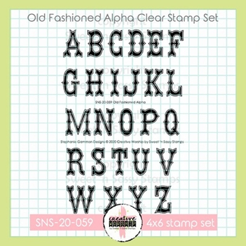 Sweet 'N Sassy OLD FASHIONED ALPHA Clear Stamp Set sns20059*
