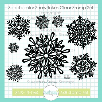 Sweet 'N Sassy SPECTACULAR SNOWFLAKES Clear Stamp Set sns13064