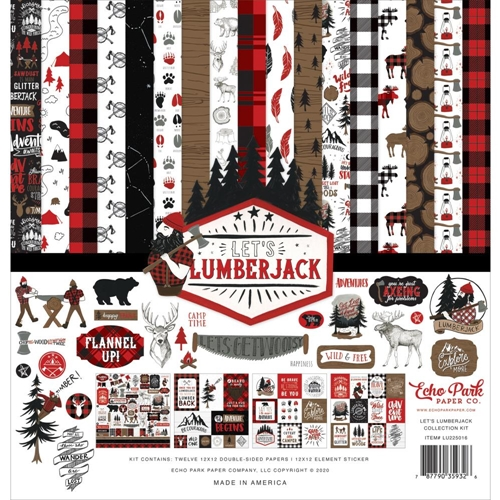 Echo Park LET'S LUMBERJACK 12 x 12 Collection Kit lu225016 Preview Image