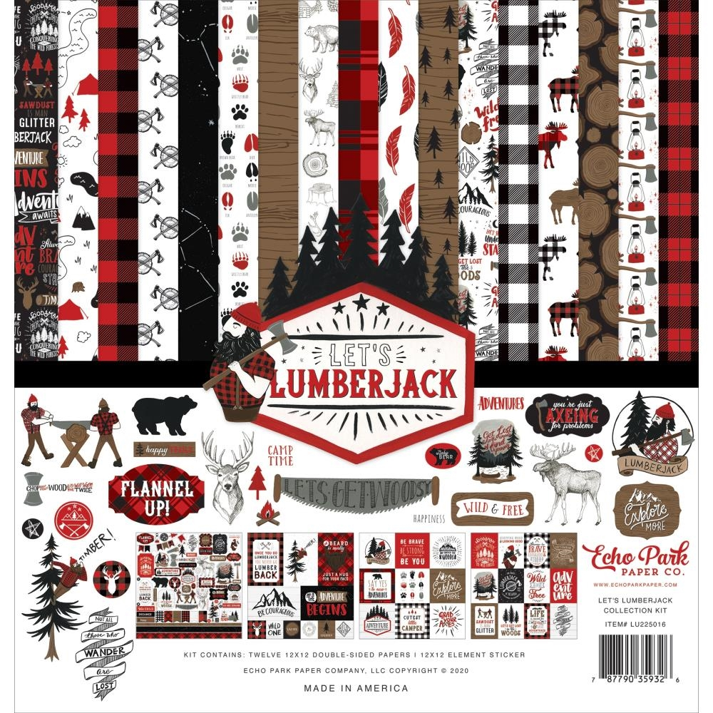 Echo Park LET'S LUMBERJACK 12 x 12 Collection Kit lu225016 zoom image
