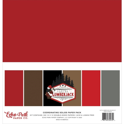 Echo Park LET'S LUMBERJACK 12 x 12 Solids Paper Pack lu225015 Preview Image