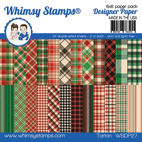 Whimsy Stamps TARTAN 6 x 6 Paper Pads WSDP27 zoom image