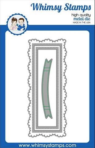 Whimsy Stamps SLIMLINE FANCY FRAME Dies WSD499 Preview Image