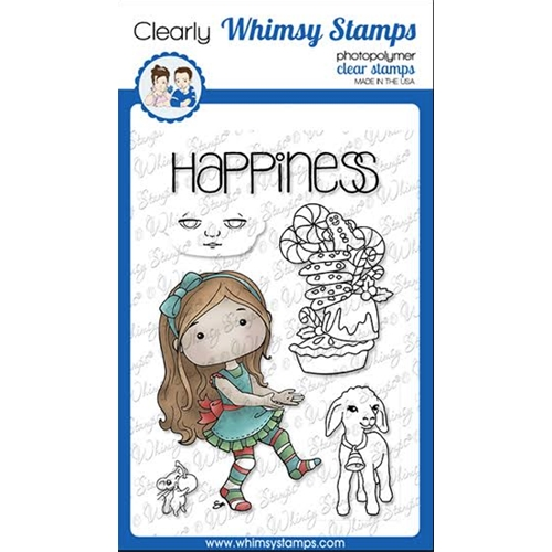Whimsy Stamps POLKA DOT PALS BRIANNA Clear Stamps BS1018 Preview Image