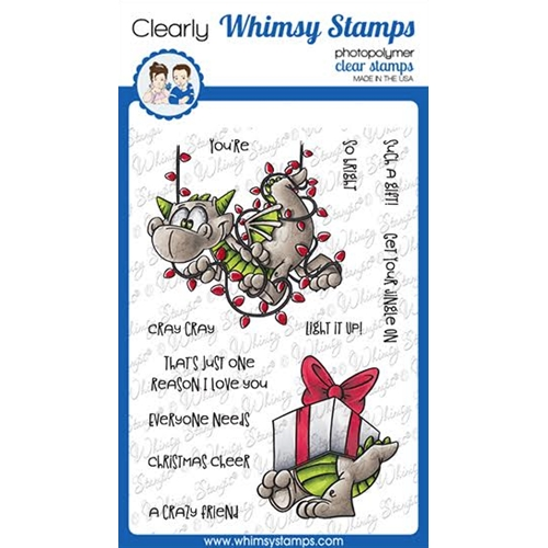 Whimsy Stamps DRAGON CHRISTMAS CHEER Clear Stamps DP1038a Preview Image