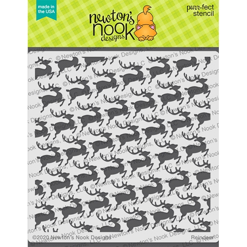 Newton's Nook Designs TINY REINDEER Stencil NN2010T02 Preview Image