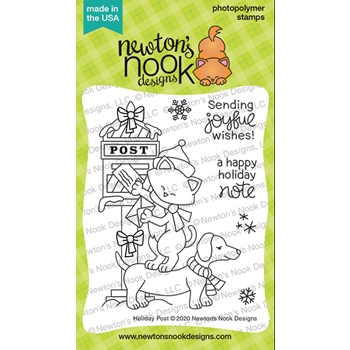 Newton's Nook Designs HOLIDAY POST Clear Stamps NN2010S07