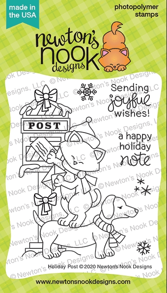 Newton's Nook Designs HOLIDAY POST Clear Stamps NN2010S07 zoom image
