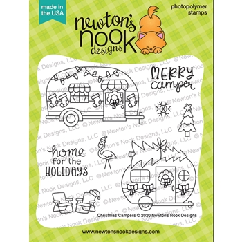 Newton's Nook Designs CHRISTMAS CAMPERS Clear Stamps NN2010S05