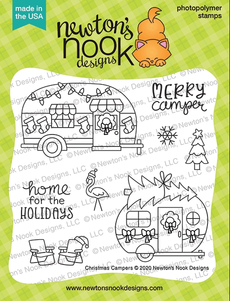Newton's Nook Designs CHRISTMAS CAMPERS Clear Stamps NN2010S05 zoom image