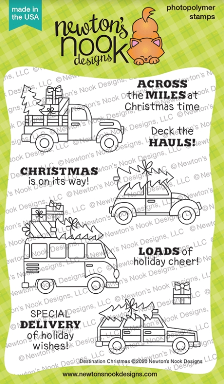 Newton's Nook Designs DESTINATION CHRISTMAS Clear Stamps NN2010S04 zoom image
