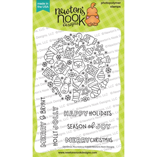 Newton's Nook Designs CHRISTMAS ROUNDABOUT Clear Stamps NN2010S08 Preview Image
