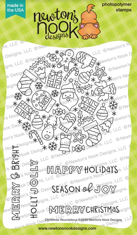 Newton's Nook Designs CHRISTMAS ROUNDABOUT Clear Stamps NN2010S08 zoom image