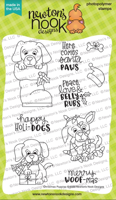 Newton's Nook Designs CHRISTMAS PUPPIES Clear Stamps NN2010S02 zoom image