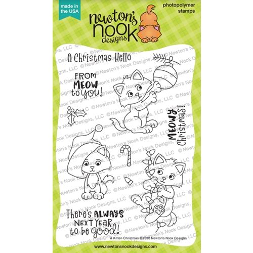 Newton's Nook Designs A KITTEN CHRISTMAS Clear Stamps NN2010S01 Preview Image